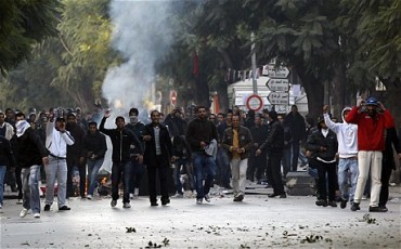 Riots broke out in Tunisia over growing food prices