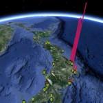 Google Earth alapú valósidejű térkép a radioaktivitás erősségéről Japánban
