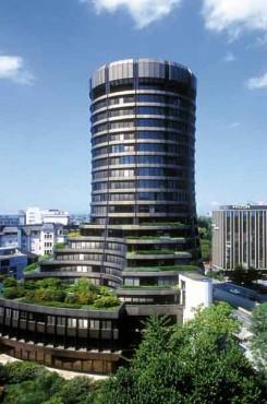 A BIS épülete Bázelban