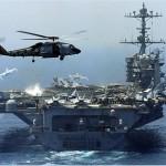 USA anyahajó a Hormuz-szorosnál az iráni hadgyakorlat közepén