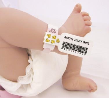 Baby leg barcode tag