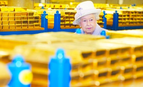 Nigel Farage On The Queen's Tour of Britain's Gold Vault