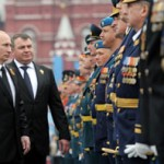 Putin Examines Troops
