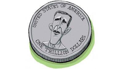 A Mars Bolygó Központi Bankja érdeklődik az amerikai ezermilliárd dolláros érmék iránt