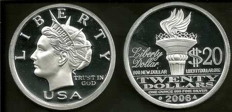 U.S. Secret Service Bans Sale of Silver and Gold Liberty Dollars on Ebay