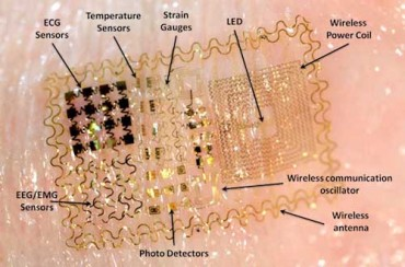 Parts of the electronic tattoo