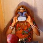 Írisztérkép rögzítés, Aadhaar adatbázis, Merta, Rajasthan.  - Photo credit: Mansi Thapliyal