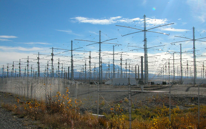 A High Frequency Active Auroral Research Program Kutatóállomás (HAARP) antennái - fotó: wikimedia commons