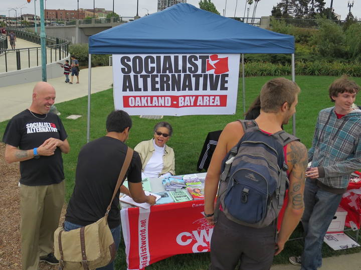 A Szocialista Alternatíva Párt standja