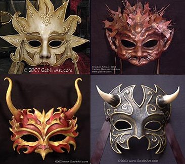celtic masks