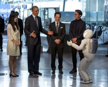 Barack Obama Asimoval focizik