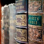 Old-Bibles-on-shelf