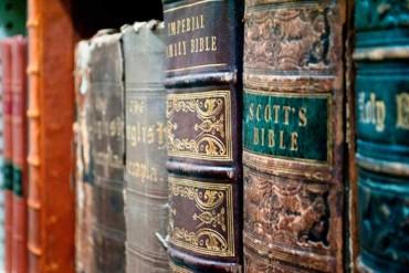 Old-Bibles-on-shelf