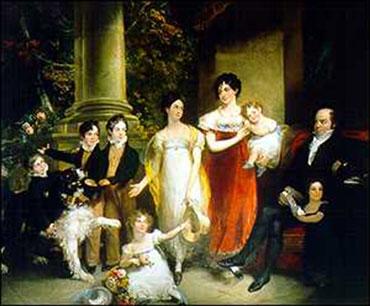 Nathan Mayer Rothschild és családja - W.A. Hobday, 1821