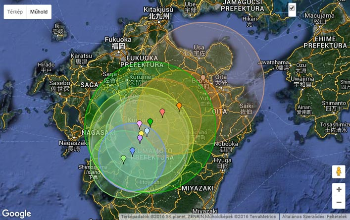 Forrás: Earthquaketrack.com